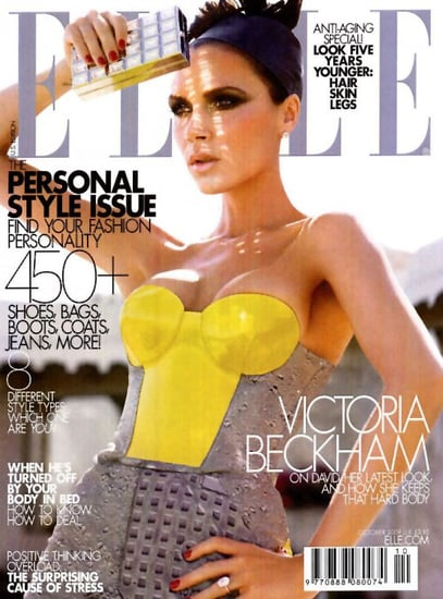 Victoria Beckham Elle magazine covers-october 09