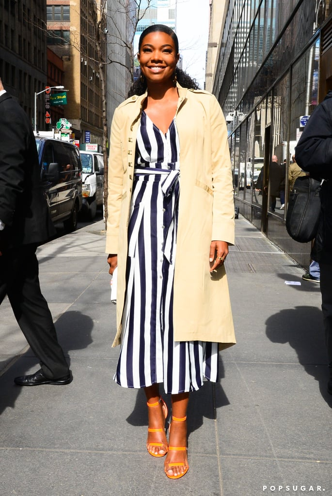 Gabrielle Union New York and Company Striped Dress