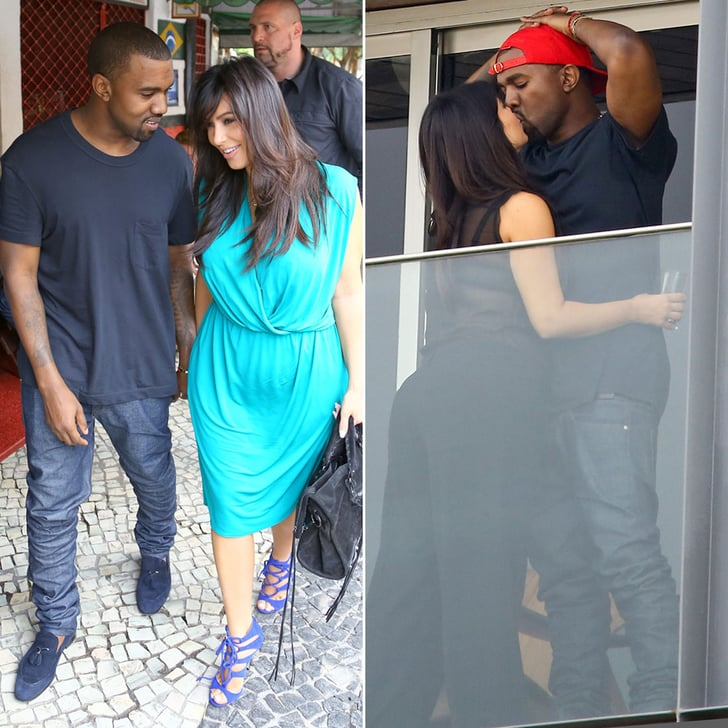 Kim and Kanye Pack On the PDA in Rio