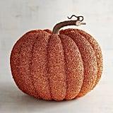 Pier 1 Imports Orange Glitter Pumpkin