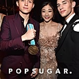 Pictured: Tom Holland, Mirai Nagasu, and Adam Rippon