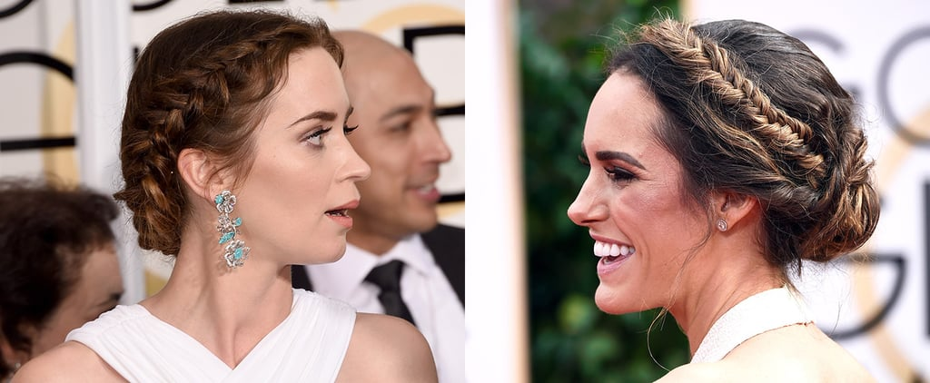 How to Crown Braid Emily Blunt Louise Roe Golden Globes
