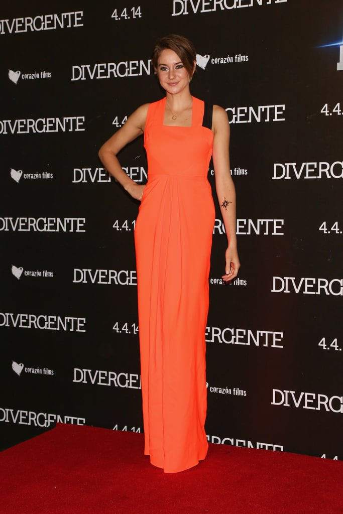 Shailene Woodley at the Mexico City Divergent Premiere