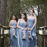 The Bridesmaids in This Beauty and the Beast Wedding Are Carrying Lanterns!