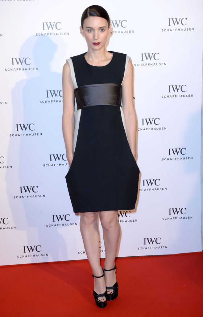Rooney Mara chose a little black Vera Wang Collection dress that was anything but typical for the For the Love of Cinema event at the Cannes Film Festival.