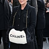 Kris Jenner Showed Up Wearing a Chainstrap Chanel Muffler