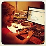 Hoda Kotb got caught tweeting. Source: Instagram user todayshow