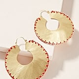 Julie Stitched Hoop Earrings