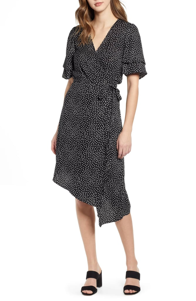 Leith Ruffle Sleeve Wrap Dress