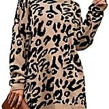 Prettygarden Leopard Sweater Dress