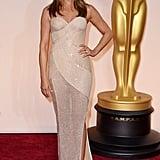 Jennifer Aniston at the 2015 Academy Awards