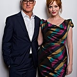 Christina Hendricks and John Slattery got all dressed up on Monday to promote God's Pocket in London.