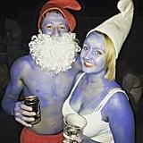 Papa Smurf and Smurfette