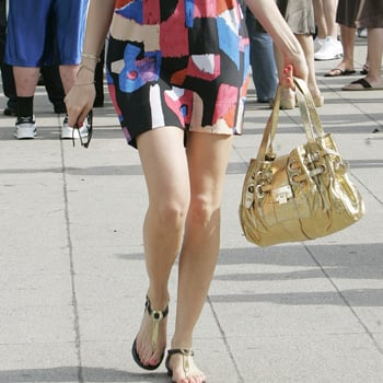 Guess Who is Carrying a Jimmy Choo Tote?