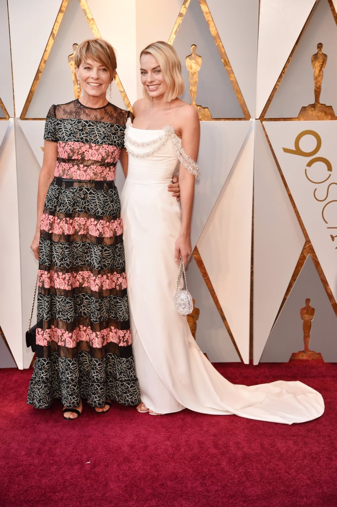 Margot Robbie and Her Mother at the 2018 Oscars