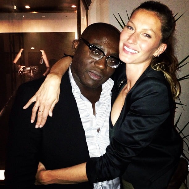 Gisele Bündchen wrapped her arms around editor Edward Enninful. Source: Instagram user giseleofficial