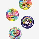 Lisa Frank x SpongeBob Four-Count Button Set ($7)