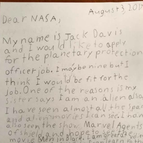 9-Year-Old Boy Applies For a Job at NASA