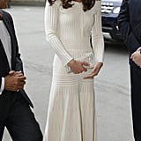 Kate looked absolutely gorgeous during a dinner at the Natural History Museum in London in July.