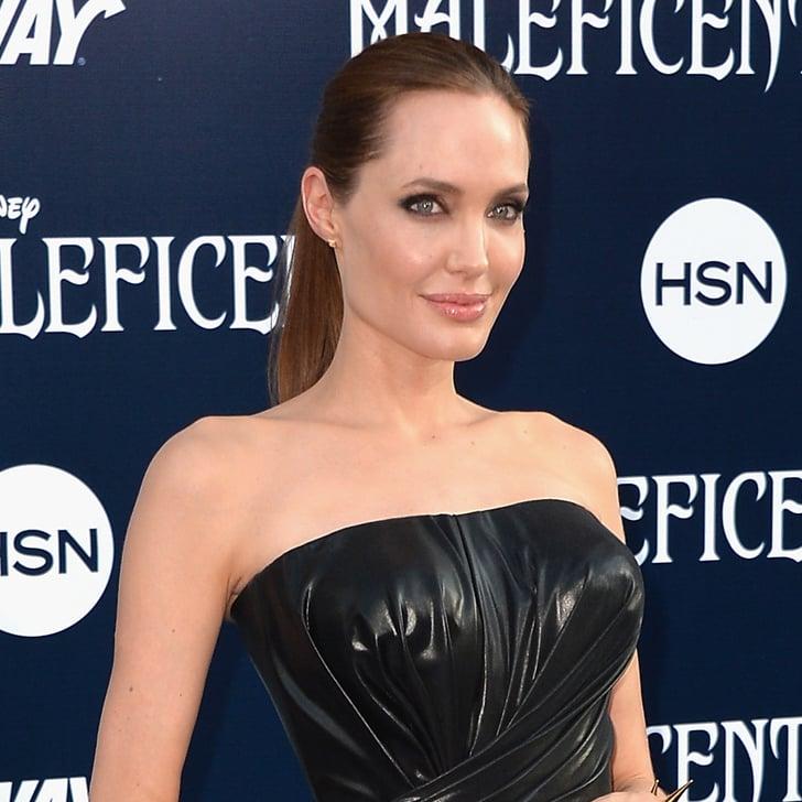 Pictures of Angelina Jolie Wearing Dangerous Accessories