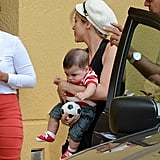 Shakira and Milan were in Miami together on Thursday.