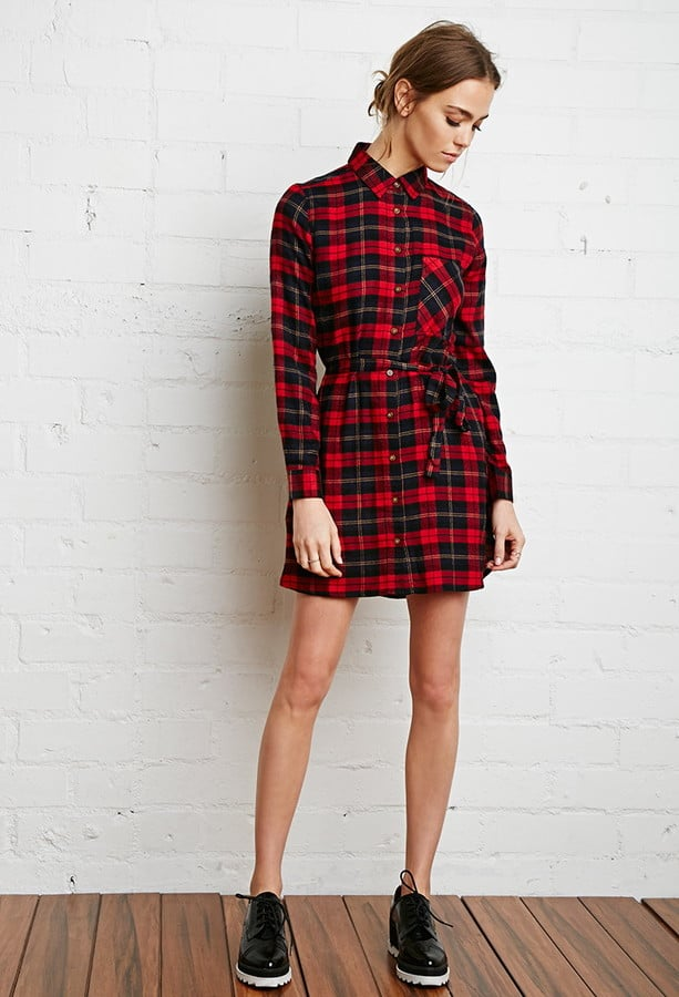 Forever 21 plaid flannel shirt dress 23 caitlyn for Womens christmas flannel shirt