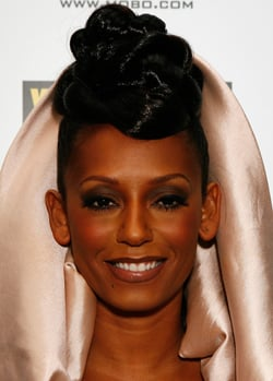 Photo of Mel B at 2008 Mobo Awards in London. Twisted Plait New Hairstyle. Love or Hate Her Beauty Look?