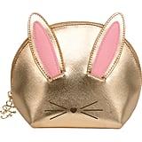 Too Faced Gold Cool Not Cruel Bunny Makeup Bag