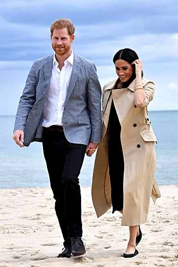 Meghan Markle Black Club Monaco Dress on the Beach 2018