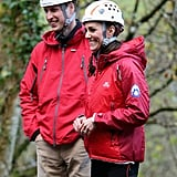 Kate Middleton and Prince William Rock Climbing in UK 2015