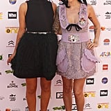 Erin McNaught and Ruby Rose both looked a treat in Miu Miu Fall '10 numbers. Love those shoes girls!