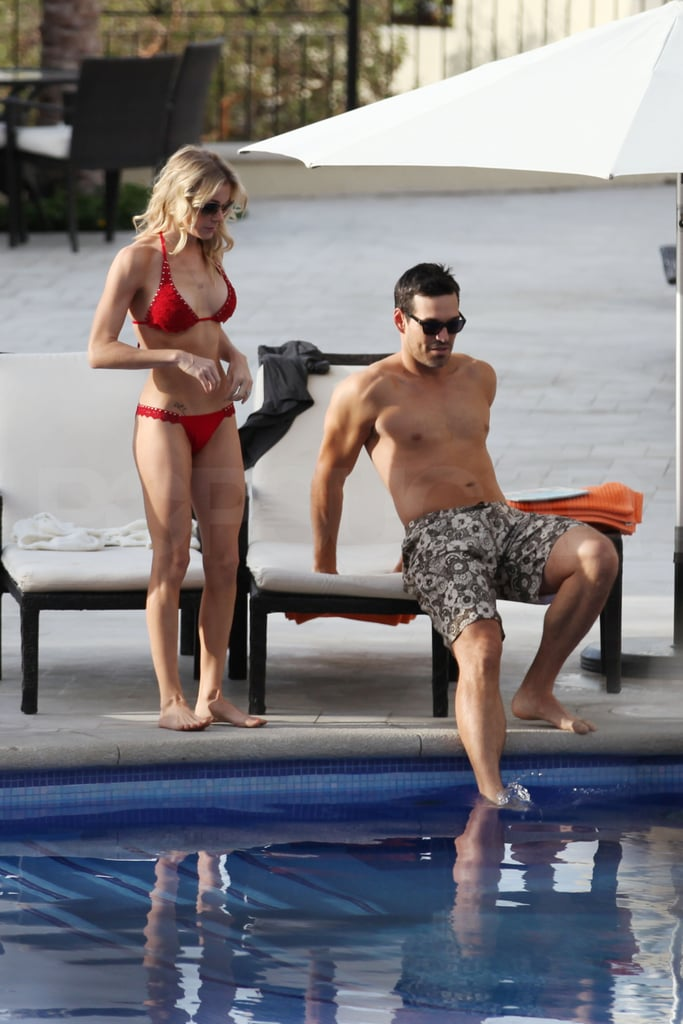 LeAnn Brings Out a Red Hot Bikini During Her Mexican Getaway With Eddie