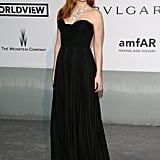 Jessica Chastain went with a classic look at the amfAR gala.