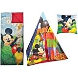 Disney Mickey Mouse Teepee Slumber Bag Set With Bonus Pillow