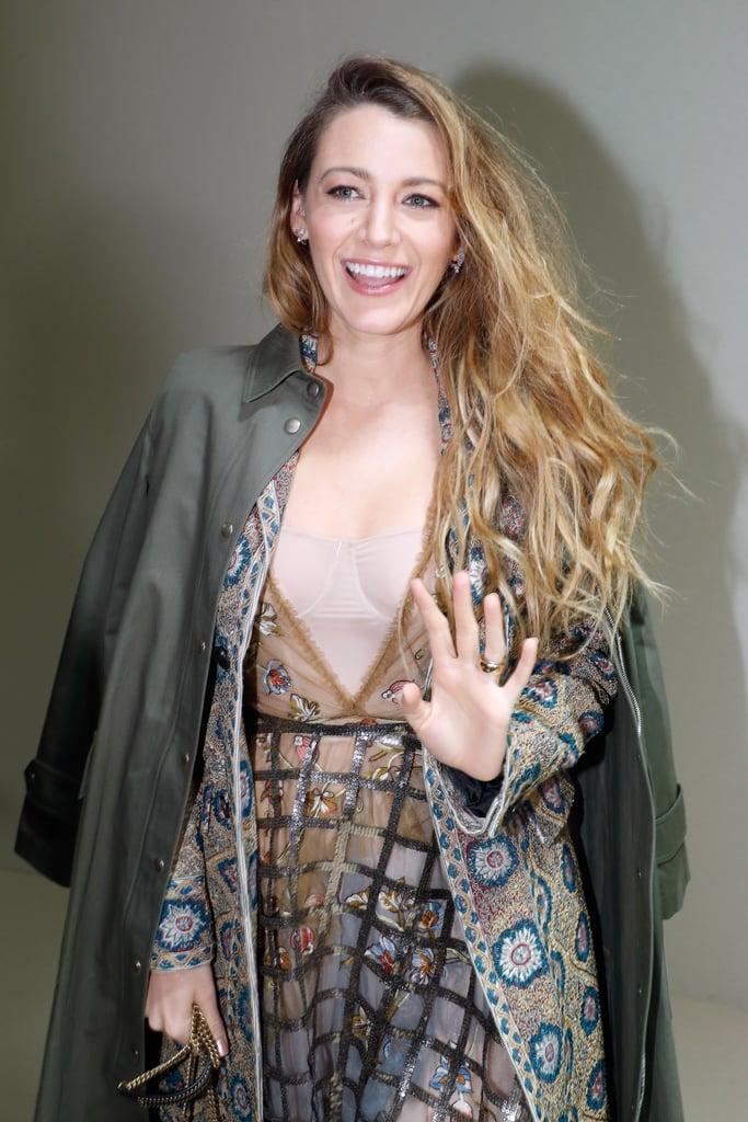 Blake Lively's Dior Dress at Paris Fashion Week 2018