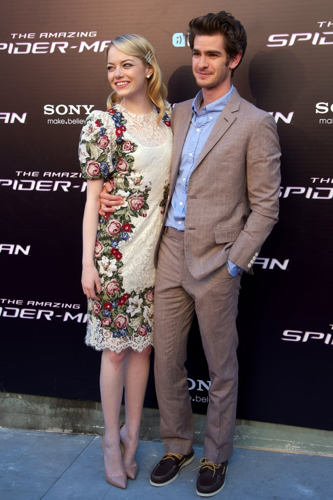 Andrew Garfield and Emma Stone Put On an Affectionate Show For Fans