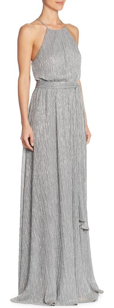 Halston Front Slit Floor-Length Gown