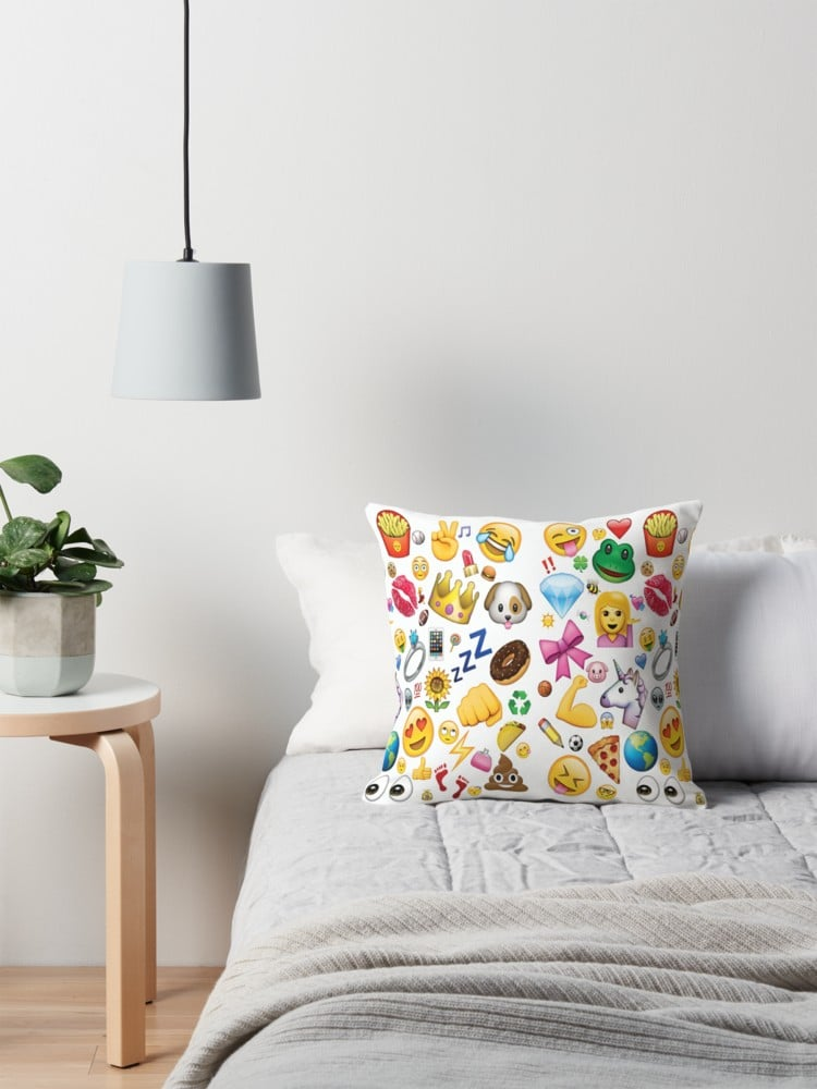 Emoji Collage Pillow