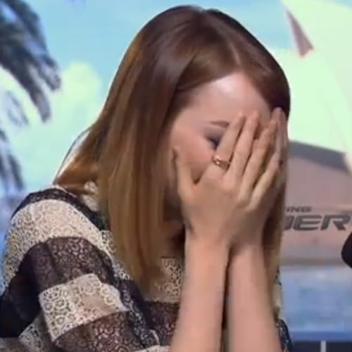 Emma Stone Cries During Interview With Spice Girl Mel B