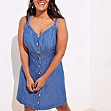 LOFT Chambray Button Down Pocket Dress