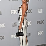 Brooke Burke-Charvet attended the Fox and FX after party in LA.