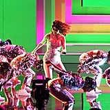 Selena Gomez's Crystal Bodysuit at the American Music Awards