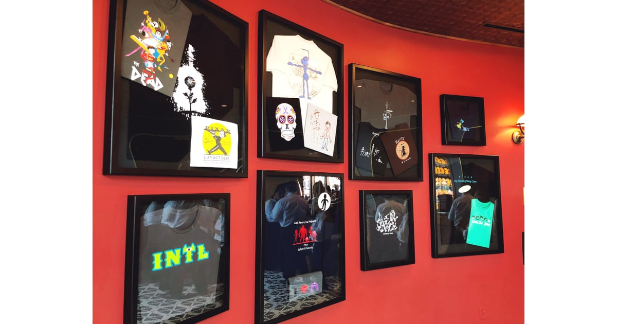 T-Shirt Wall | Lamplight Lounge at Disneyland Review and Pictures ...