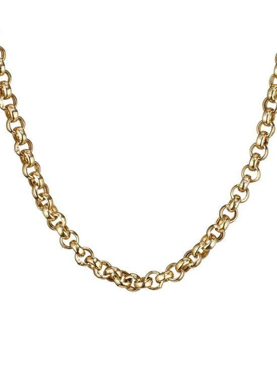 Love GOLD 9 Carat Gold 18 inch Belcher Chain