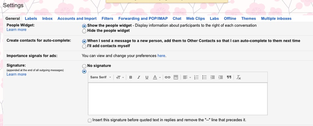 "Step 3: Back in Gmail, Find the ""Signature"" Setting"