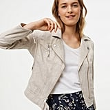 LOFT Linen Cotton Motorcycle Jacket