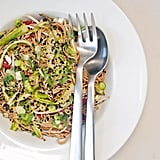 Slightly Restrained: Sesame-Ginger Soba Noodle Salad With Ribboned Asparagus