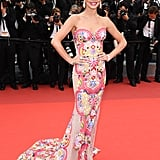 At the Cannes Film Festival in May 2016, Cheryl stunned in an elaborately embroidered Naeem Khan gown.