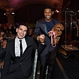 Usher and Adam Braun got together for a photo after Usher's big win.