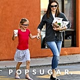 Jennifer Garner took Violet to McDonald's for a happy meal in April 2013 in LA.